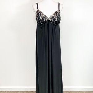 Ambrielle Black Long Sexy Night Gown Medium